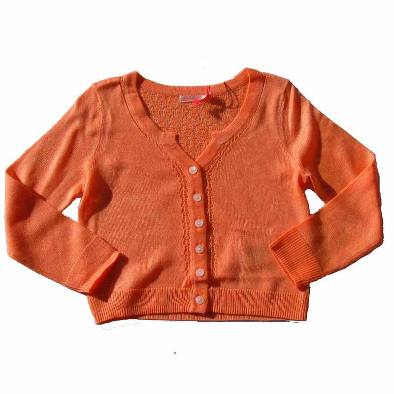 billieblush cardigan strickjacke neon orange feine qualit t 104 110 146 152 neu ebay. Black Bedroom Furniture Sets. Home Design Ideas