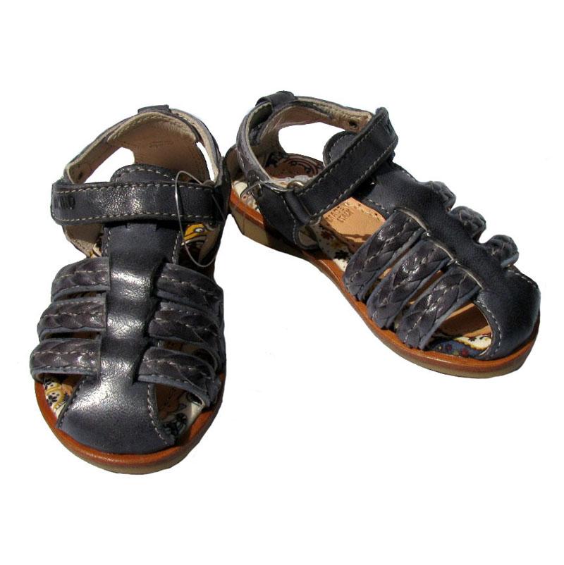 momino schuhe sandalen sandale leder dunkelblau blau. Black Bedroom Furniture Sets. Home Design Ideas