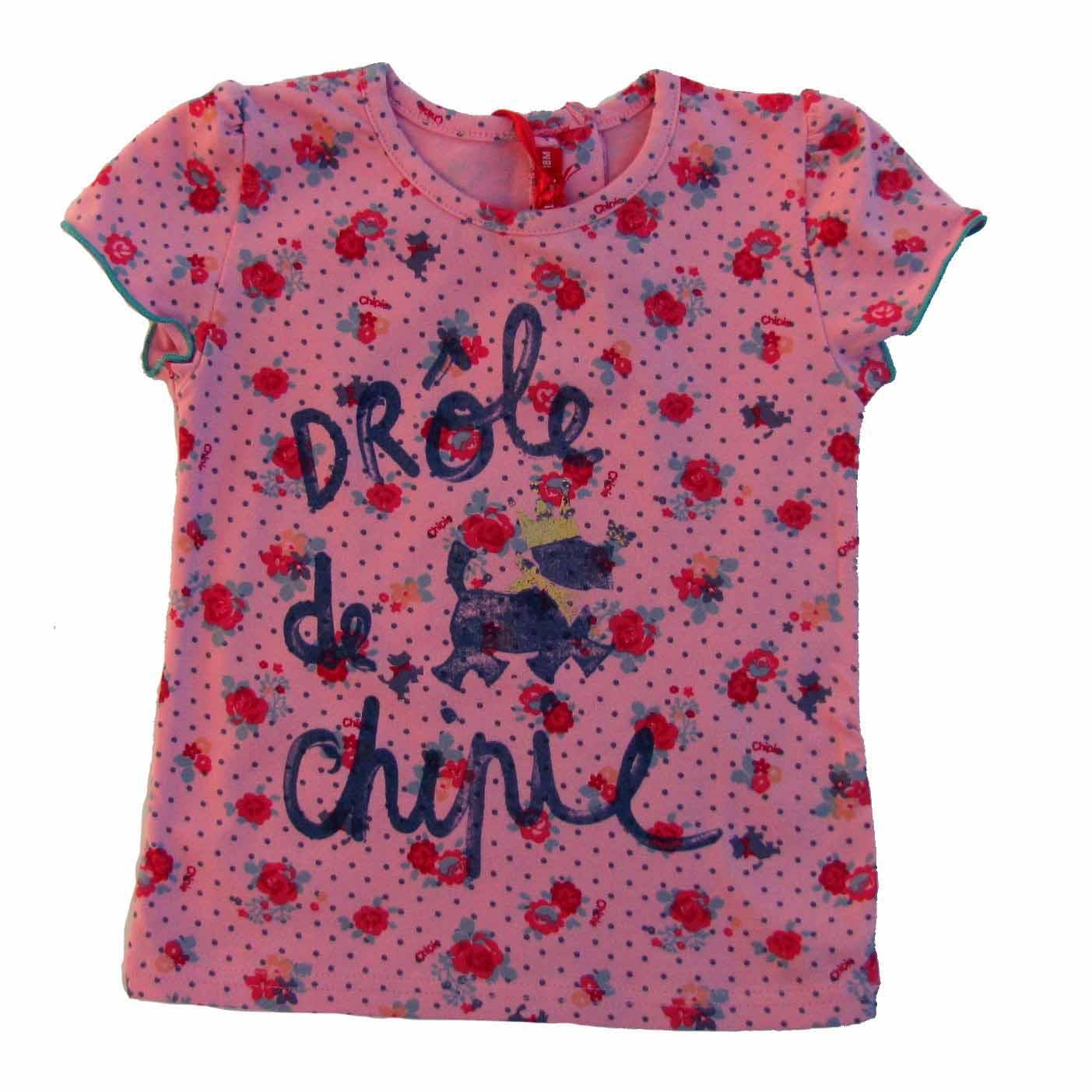CHIPIE T-Shirt rosa Logo Hund mit Krone Let`s Party  62 68 87 80 86 92 98 NEU