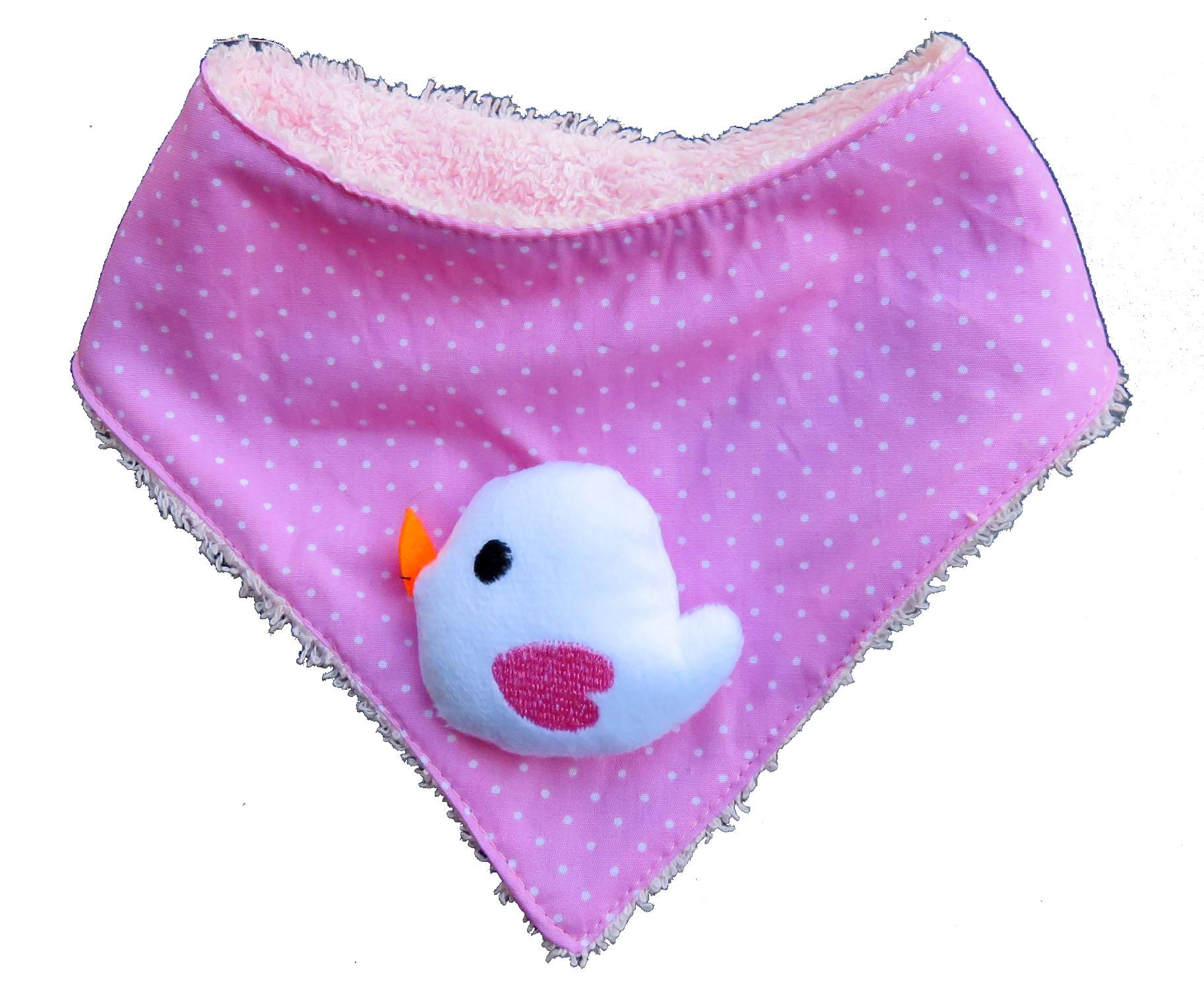 Farbgewitter Halstuch Schal Babytuch mit Frottee und Fliegenpilz Applikation NEU