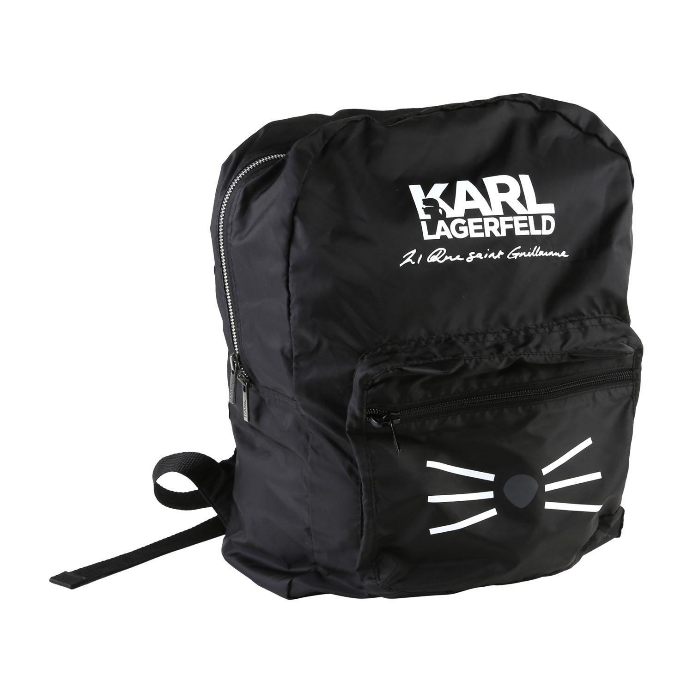 karl lagerfeld kids sac dos enfants noir chat choupette avec logo neuf ebay. Black Bedroom Furniture Sets. Home Design Ideas