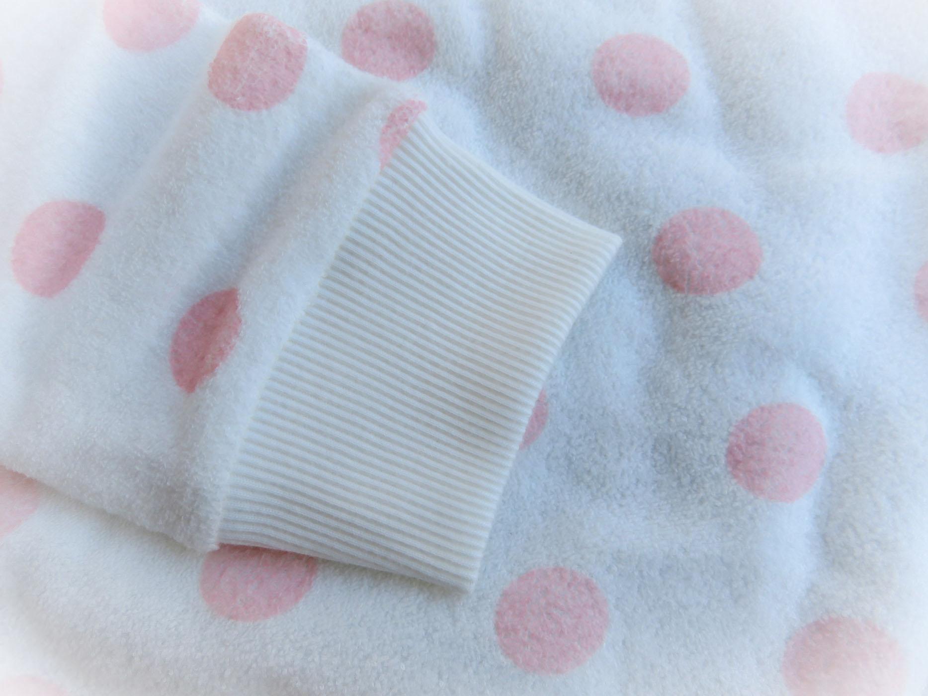 petit bateau frottee pyjama wei rosa dots 98 104 110 116 122 128 134 140 146 ebay. Black Bedroom Furniture Sets. Home Design Ideas