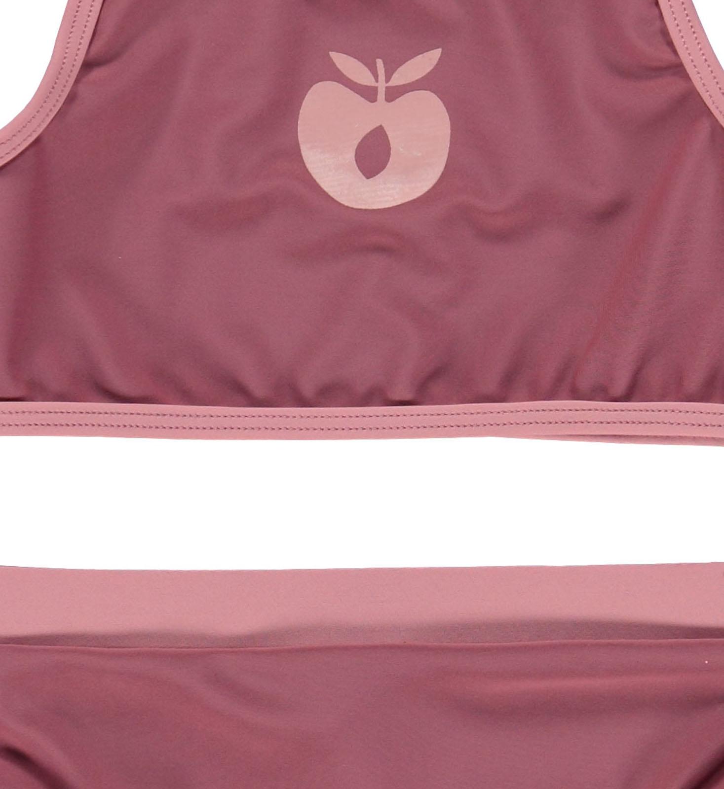 Smafolk Dänische Kindermode Swimwear Badeanzug Apples grey Äpfel