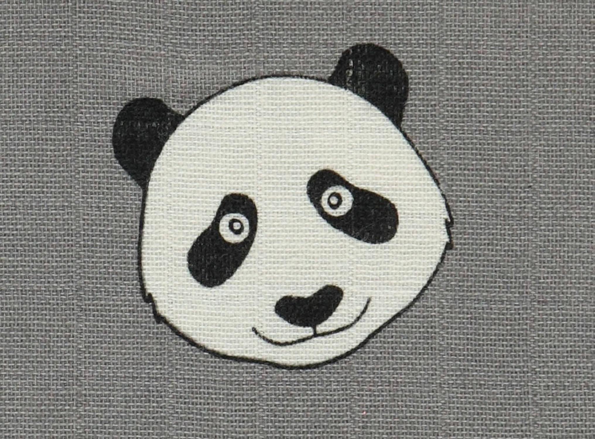 Smafolk Schmusetuch Swaddle Tuch Bio Baumwolle grau Panda Bär 120 cm x 120cm