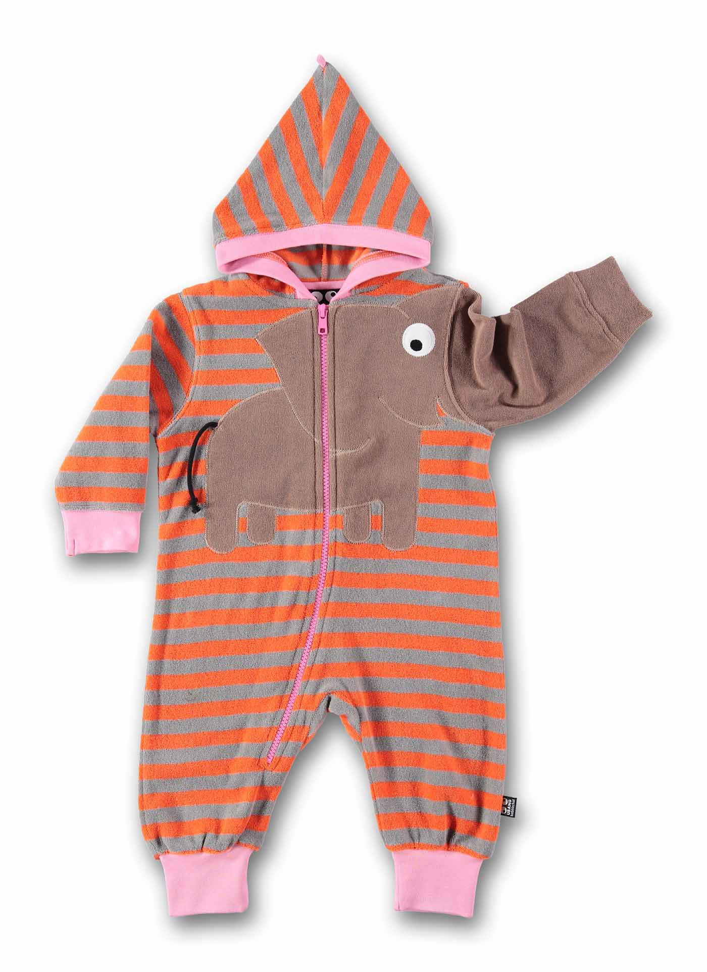 Ubang babblechat baby Overall Anzug Einteiler Elefant orange grau 74 80 86 92